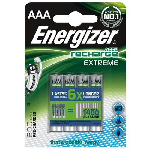 Nabíjecí baterie Energizer Extreme AAA 800mAh 4ks